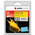 Compatible Inkjet Cartridge - Black / Cyan/ Magenta/ Yellow (apet163setd) 1x585b 1x770c 1x495m 1x700y pages