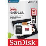 SANDISK ULTRA microSD UHS-I CARD 32GB up to 98MB/s Read Android SDSQUAR-032G-GN6MA 98MB/s class 10