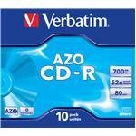 Cdr Recorder Media 700MB 80min 48x Datalife Plus Crystal 10-pk With Jewel Case                       43327 jewel case crystal surf
