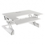 Workstation White Stand-sit Workplace Solution (height Adjustment: 13-50 Cm) NS-WS100WHITE load capacity up to 15kg
