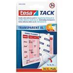 Transparent Tack Xl Double Sided Adhesive Pads 36 Pads 59404-00000-00 double sided